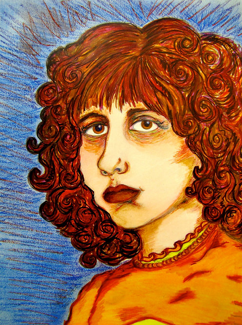 ORIGINAL - Orange Self Portrait