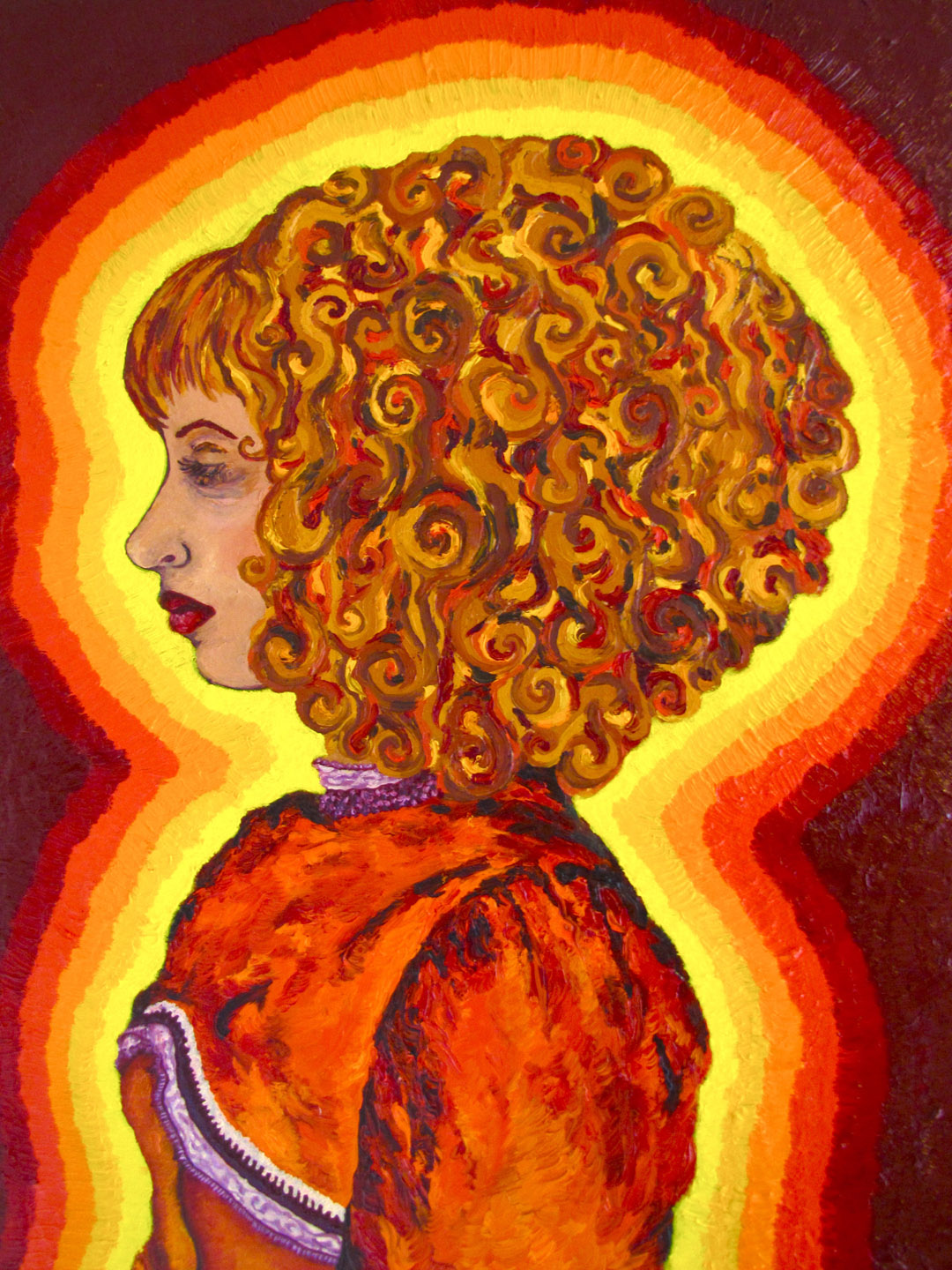 Self Portrait in Orange Dress  - Cara Ch