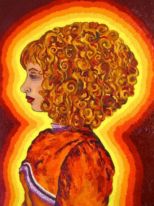 5x7 Print - Self Portrait in Orange Dress