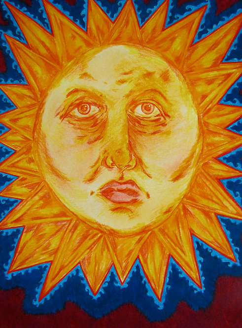 ORIGINAL - Old Woman Sun Face