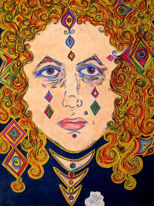 ORIGINAL - Geometric Girl Genie Head