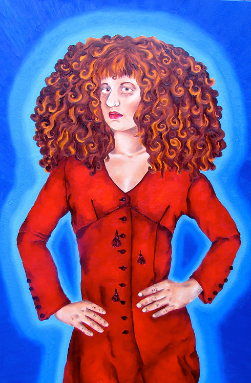 5x7 Print - Self Portrait in Red Dress