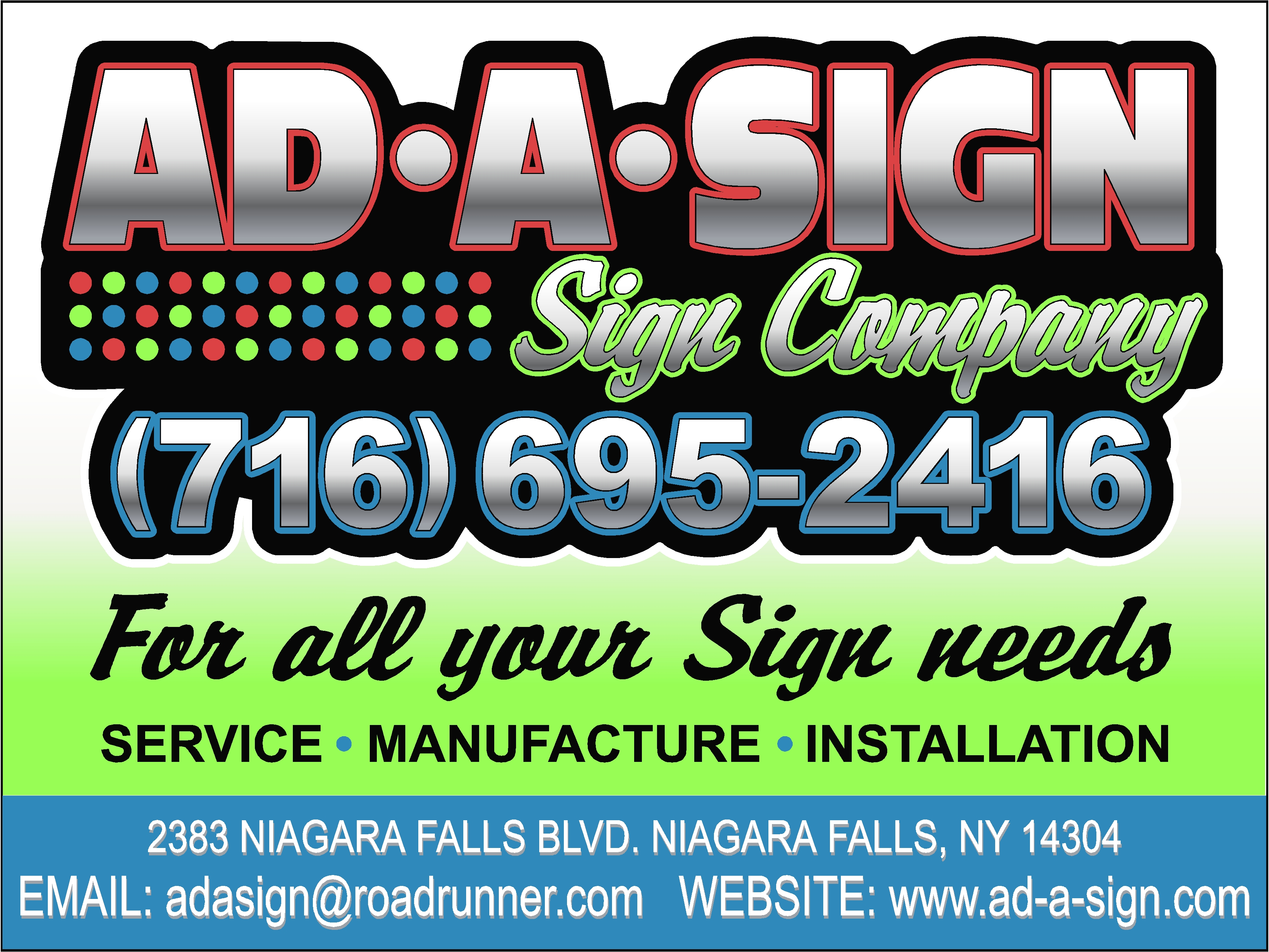 adasignfor all your sign needs