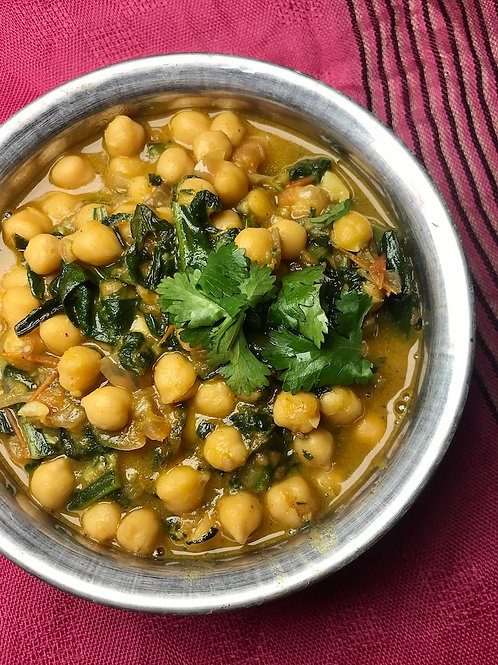 Spinach & Chickpea Curry (VN)