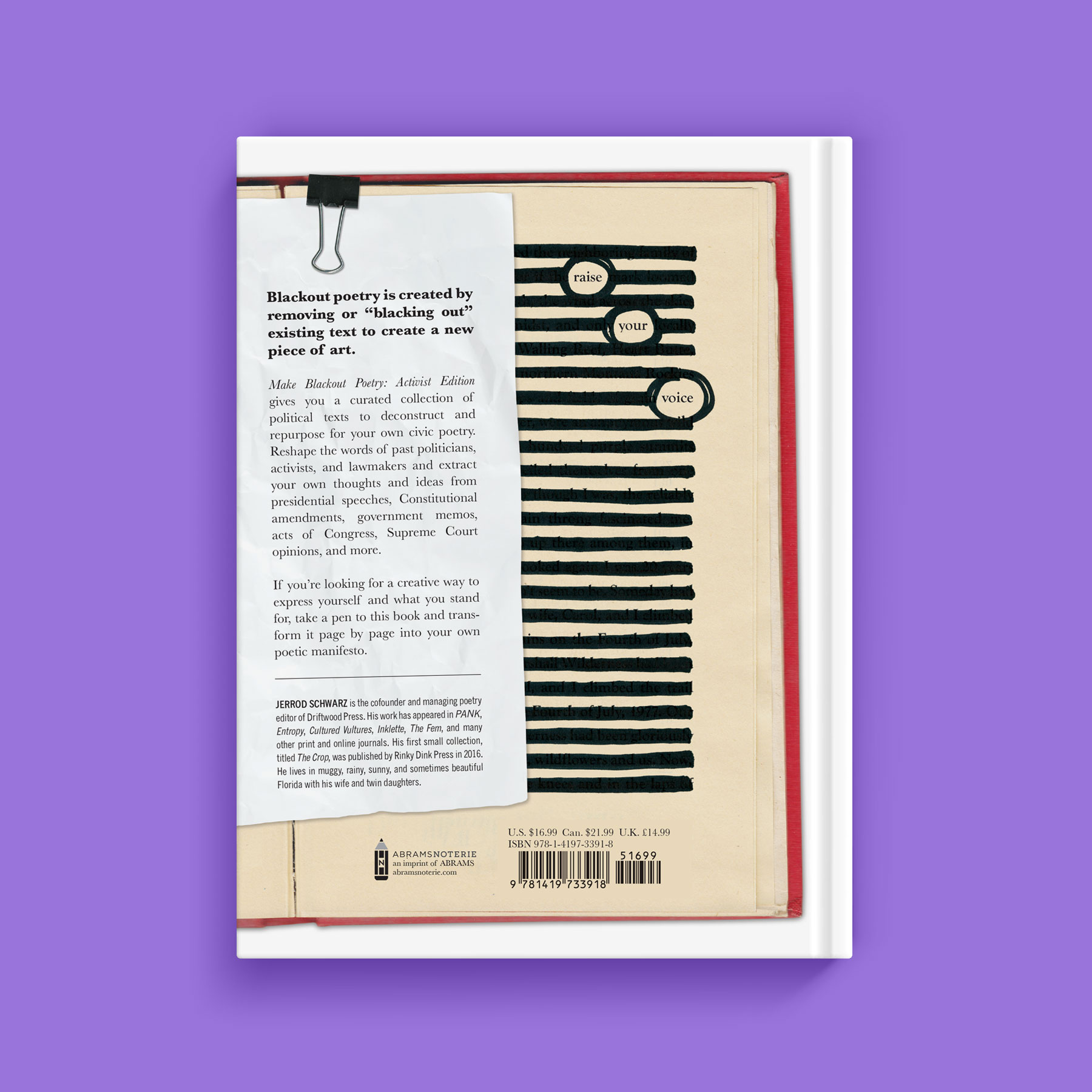 Make Blackout Poetry back cover
