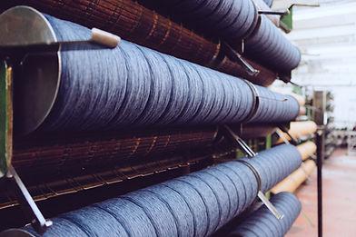 Thread, blue in green switzerland, oceans, whale, organic cotton