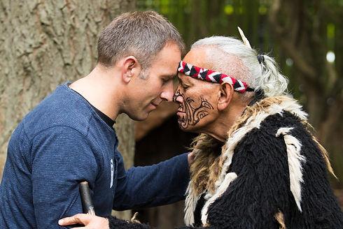 The traditional Māori greeting