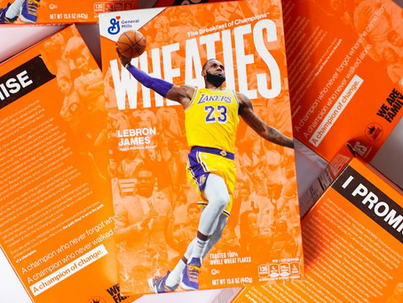 LeBron James joins 'Breakfast of Champions' along with Akron I Promise kids on next Wheaties box