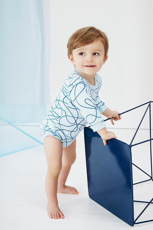 Blue Scribble Bodysuit
