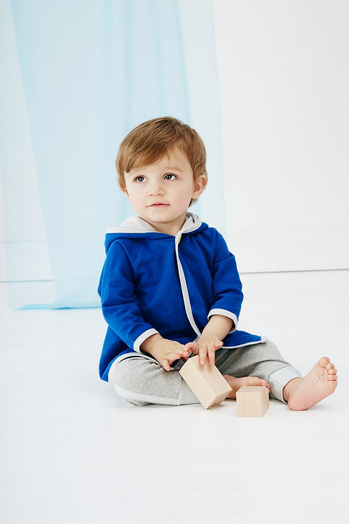 Blue Baby Button Hoodie