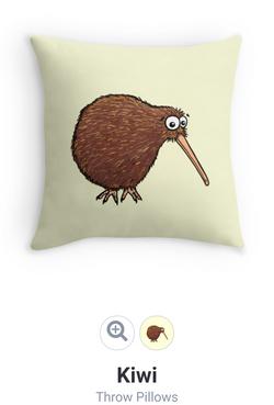 NZ kiwi cute cushion Adrienne Body