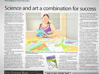 Science and art a combination for success - Article in Whakatane Beacon