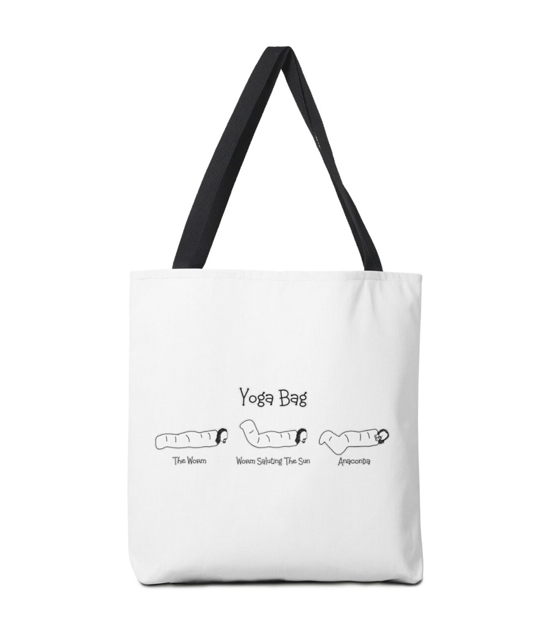 Black Books yoga tote bag