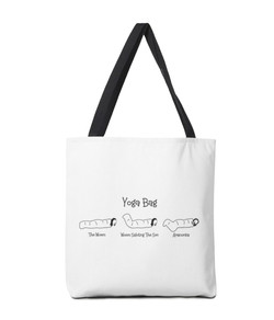 Black Books yoga tote bag