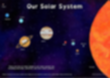 Adrienne Body - Adorable Solar system poster based on children's picture book My Name Is The Sun