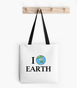 love earth tote bag Adrienne Body