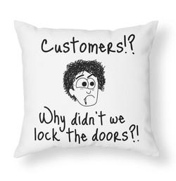 Customers cushion