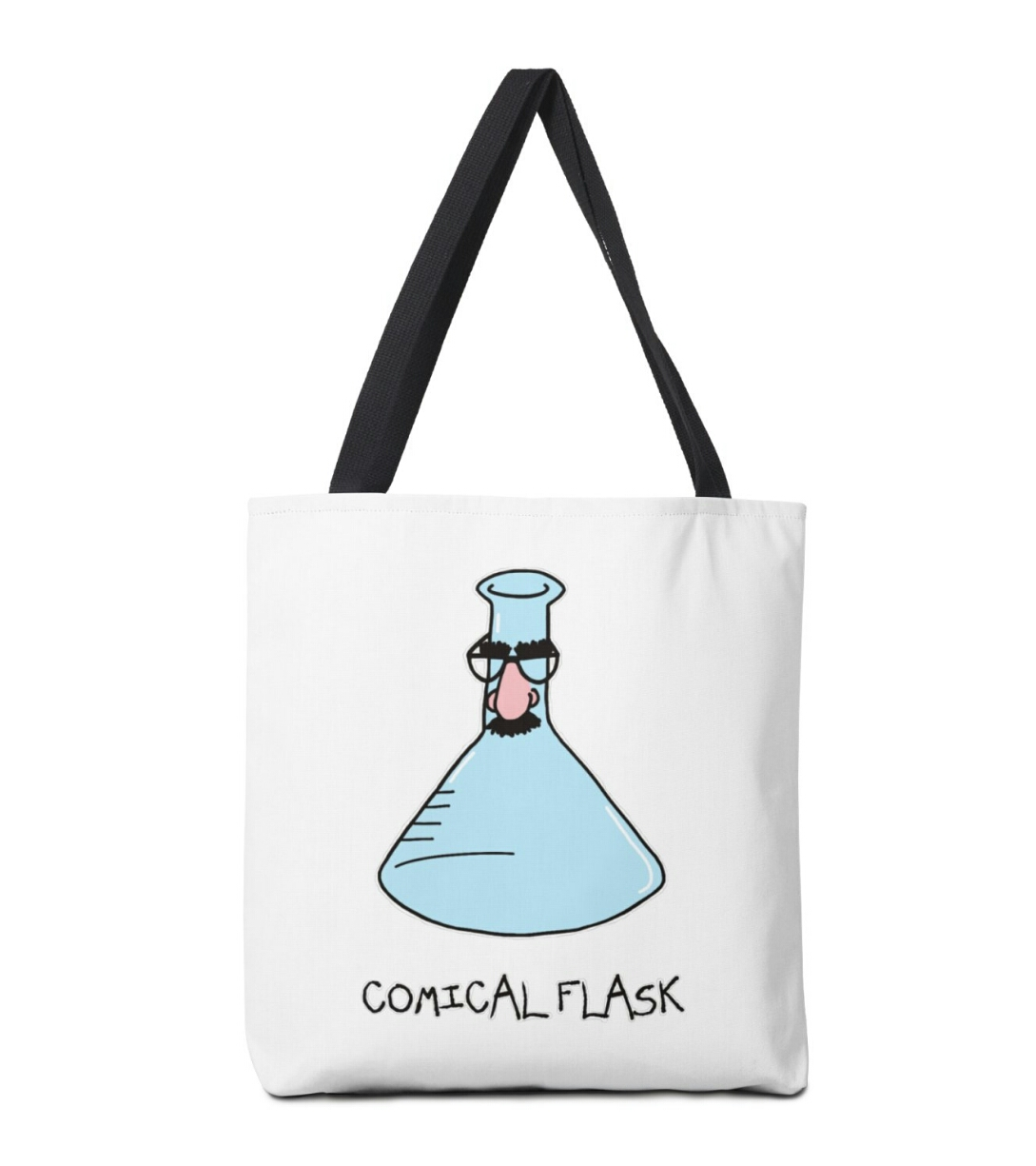 Comical Flask Tote Bag Adrienne Body