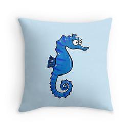 cute seahorse cushion Adrienne Body