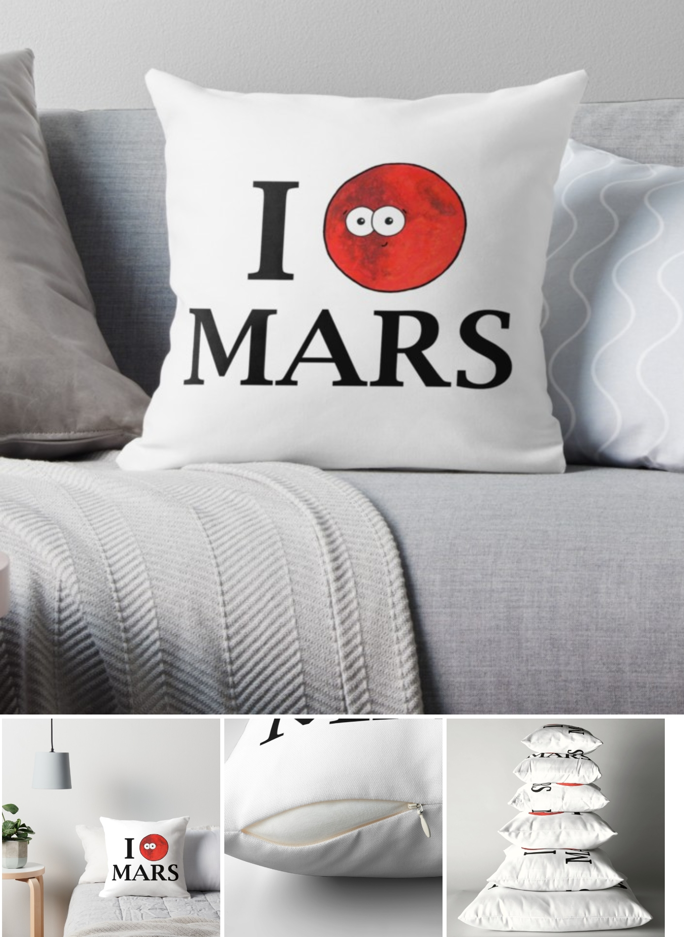 i love mars cushion Adrienne Body