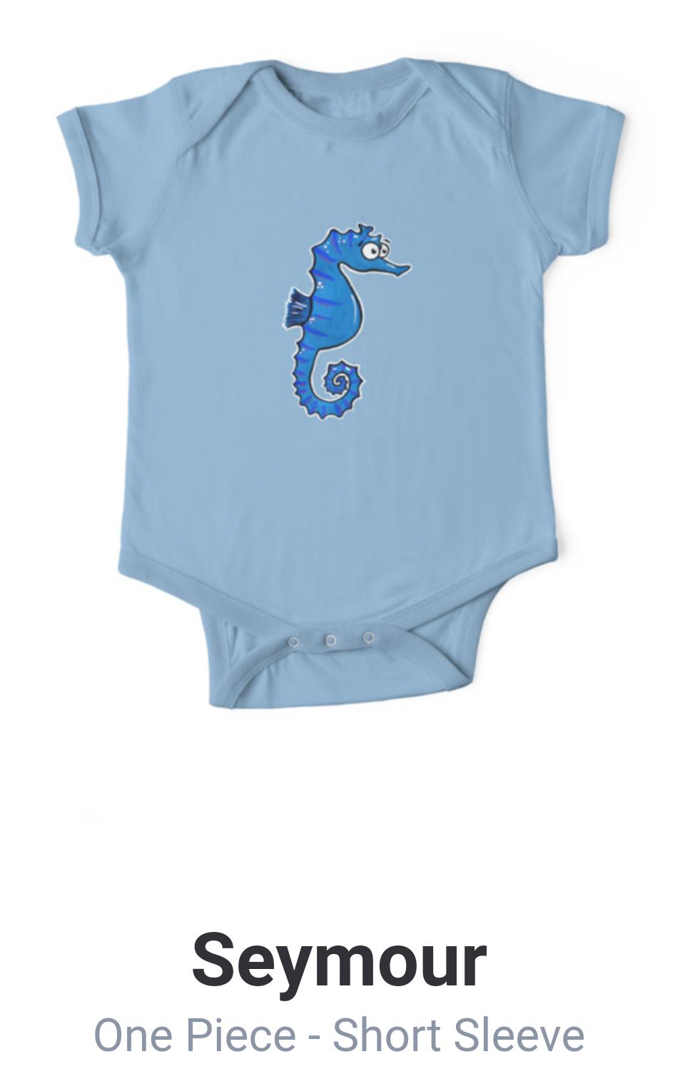 seahorse baby onesie Adrienne Body