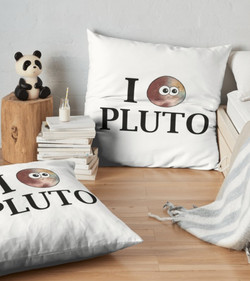 I Love Pluto cushion Adrienne Body