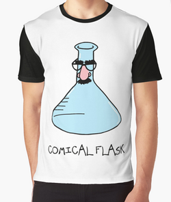 Comical Flask by Adrienne Body