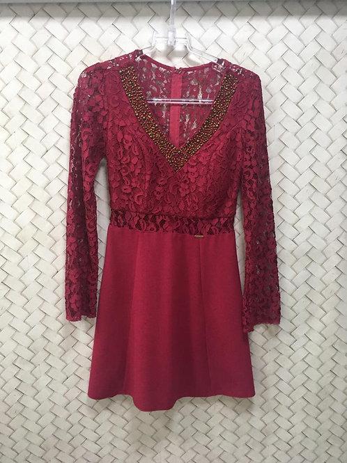 Vestido Renda Pink M/L