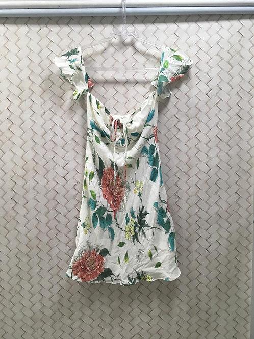 Vestido Floral Crepe Curto HIT