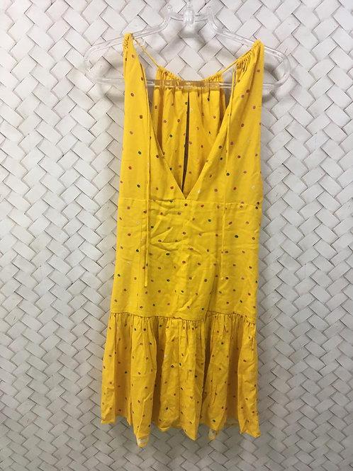 Vestido Amarelo Poá FARM