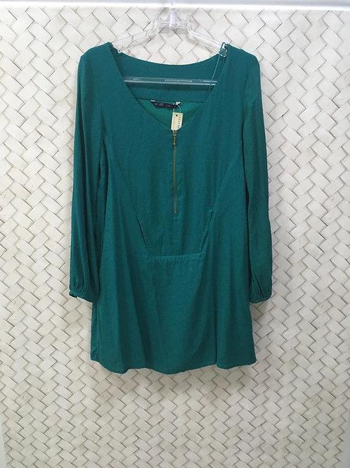 Vestido Verde ZARA 1238