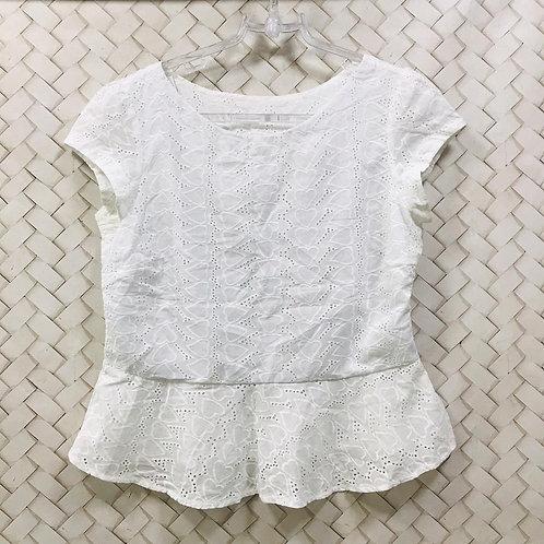 Blusa Branca Bordado Coração