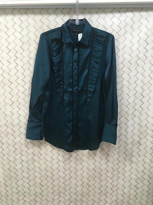 Camisa Verde Seda BANANA REPUBLIC