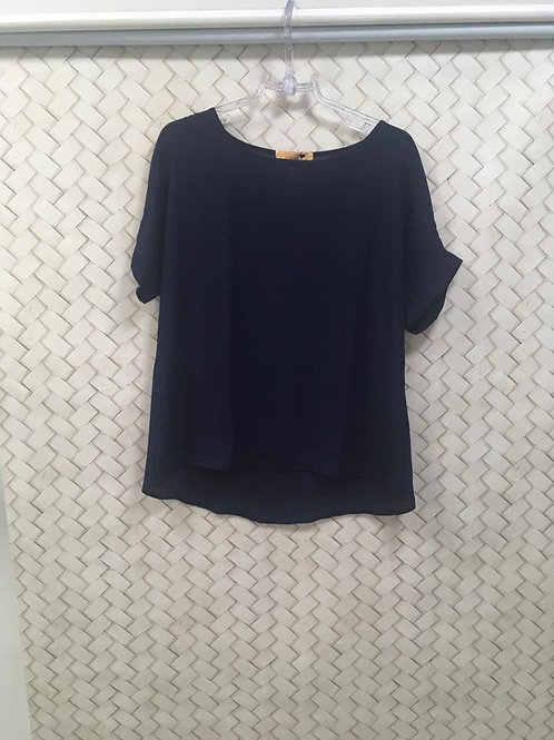 Blusa Azul Crepe FIO BRASIL