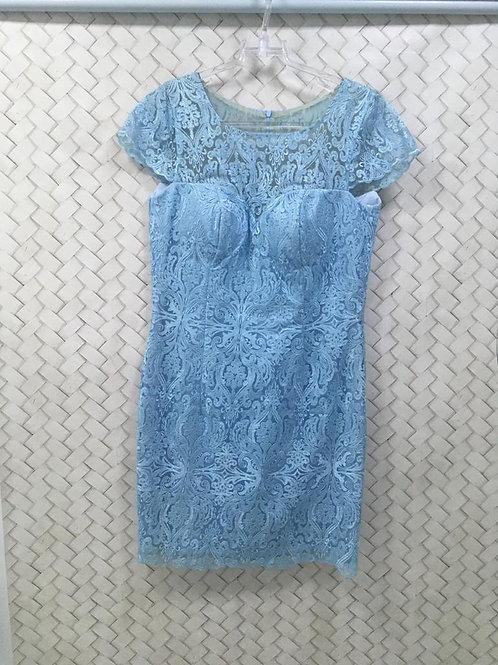 Vestido Azul Renda DOLPS