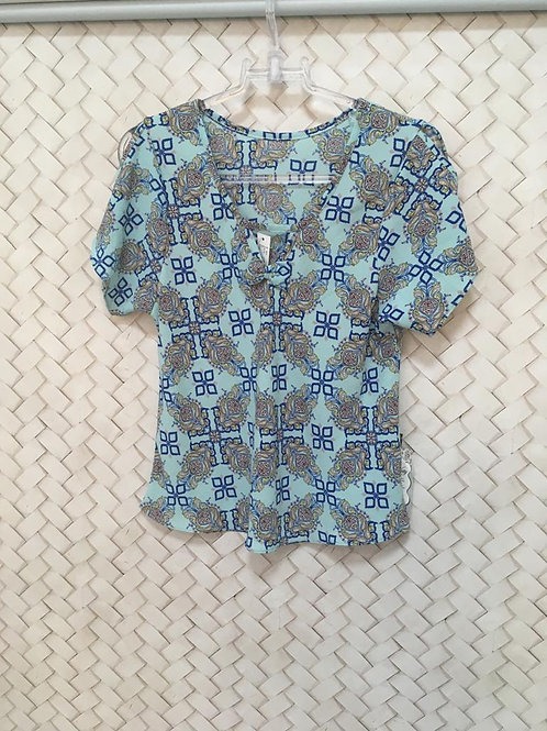 Blusa Estampada Azul 1270
