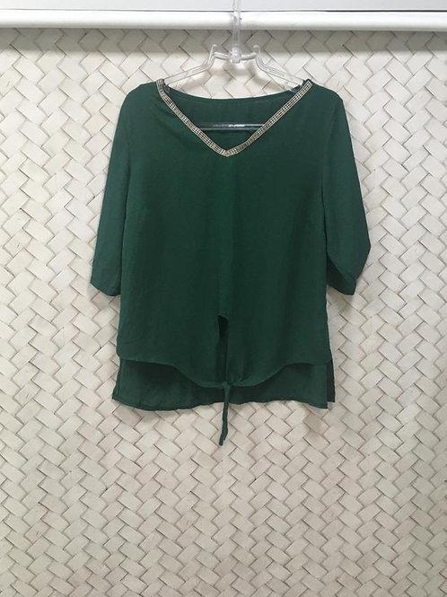 Blusa Verde Escuro Nó