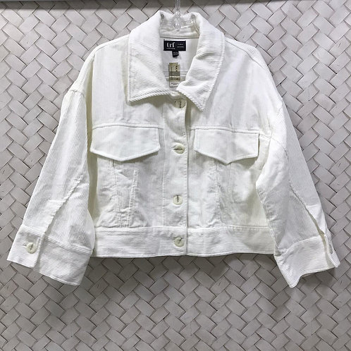 Jaqueta Branca Cotelê ZARA