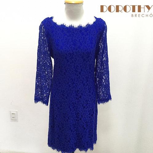 Vestido Renda Azul DIANE VON FURSTENBERG