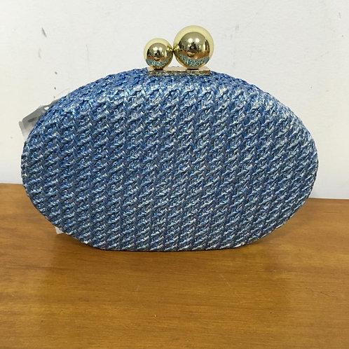 Clutch Azul Metalizada