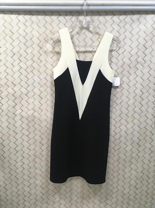 Vestido Malha Preto e Branco YSC