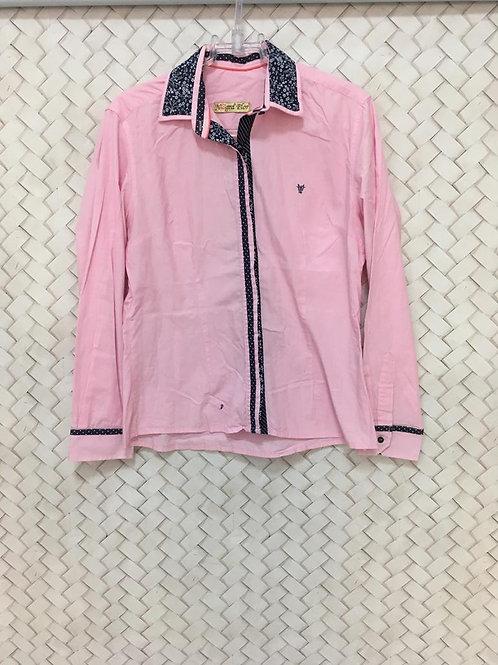 Camisa Rosa NEGRA COR