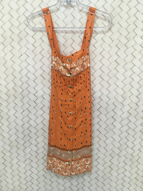 Vestido Laranja Estampado DRESS TO 1278