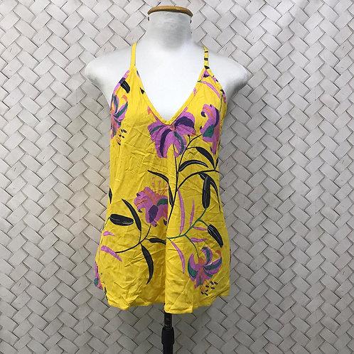 Camiseta Floral Amarela HIT
