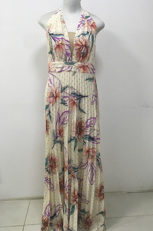 Vestido Floral Plissado Longo HIT