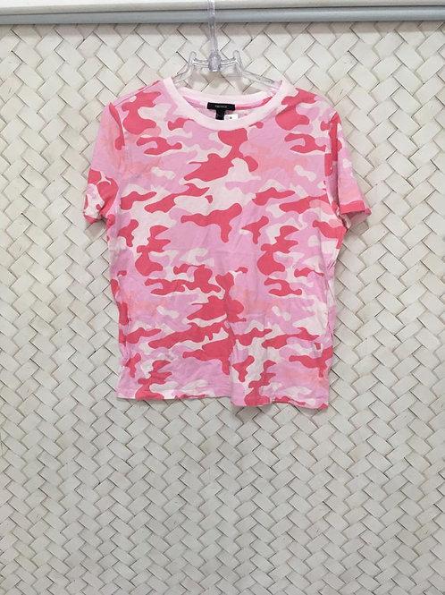 T-shirt Militar Pink FOREVER 21