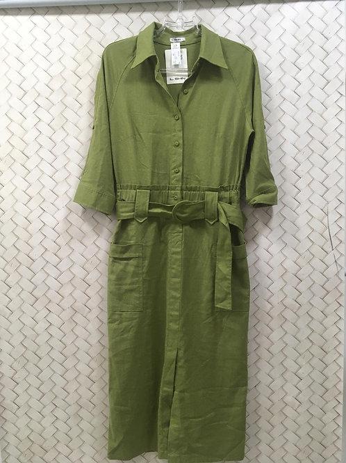 Vestido Verde Linho IL SHINE