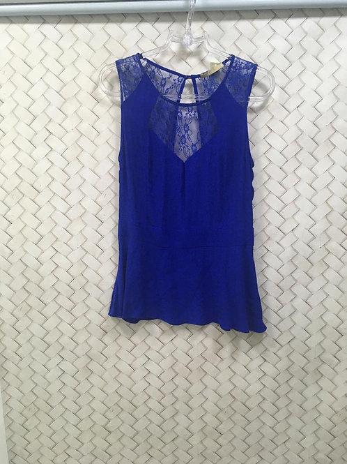 Blusa Azul Com Renda HIT