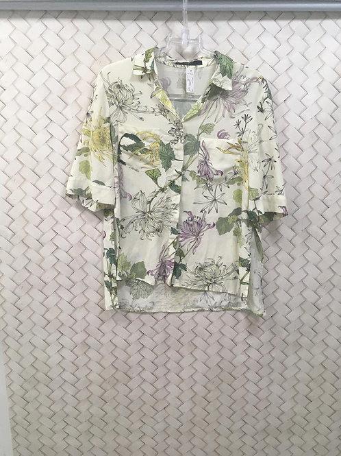 Camisa Seda Floral ANIMALE