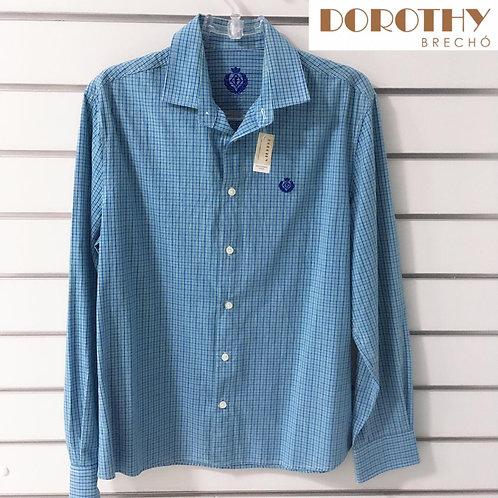 Camisa Masculina Azul Forum